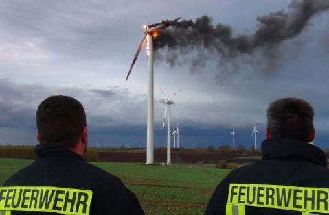 Windkraftanlagen gefahren